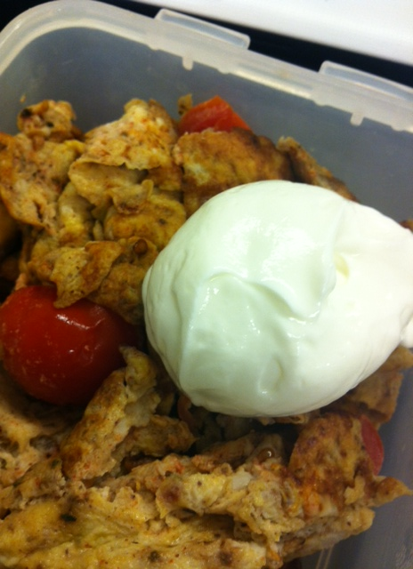 eggs, tomatoes, low fat curd cheese