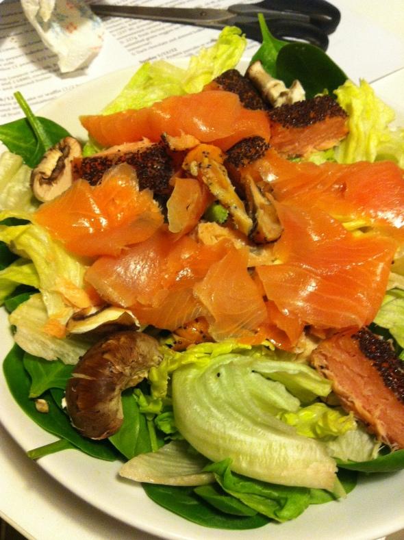 Salad Beast with Salmon