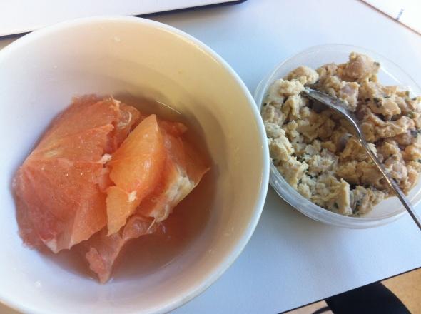 Snack - Grapefruit and Hummus