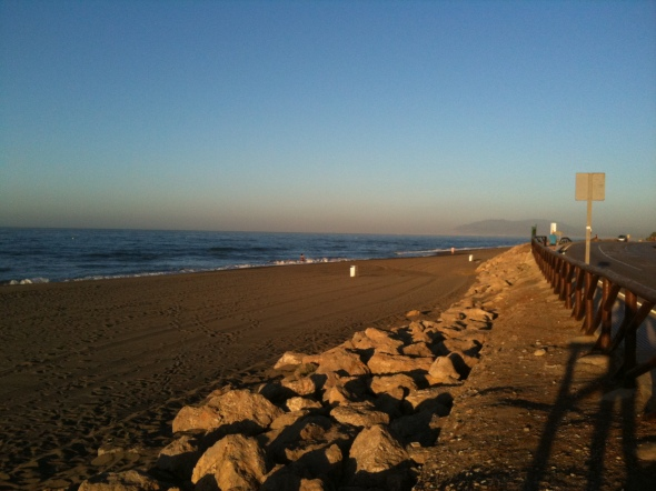 Morningsun while my morning run last year - Benajarafe, Costa del Sol