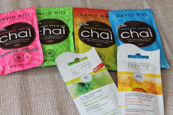 Decaffeinated Vanilla Black Tea, Green Chai Latte, Mango Black Tea, Vanilla Black Tea
