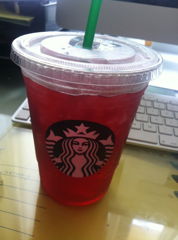Unsweetened Passionfruit Tea from Starbucks