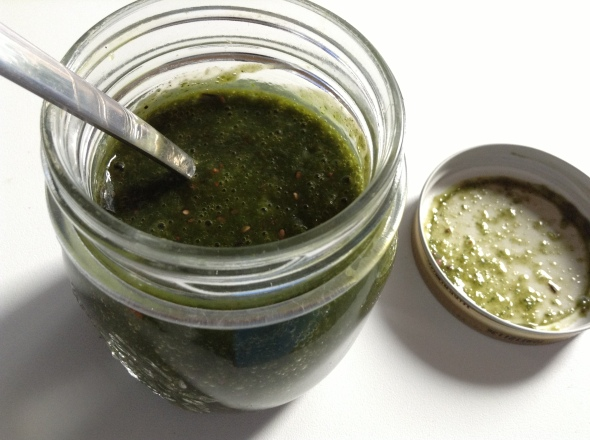 More green smoothies in a jar - sorry