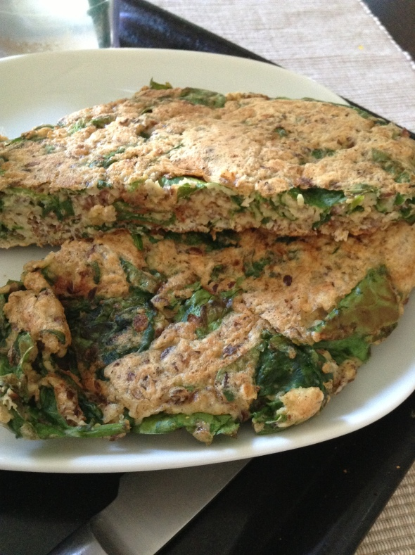 Spinach Oatmeal Omelette