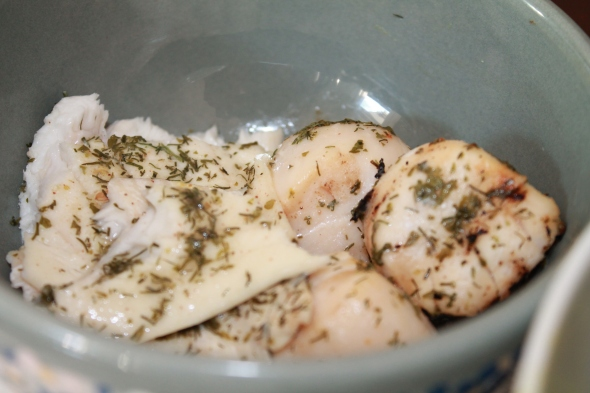 Grilled codfish&scallops
