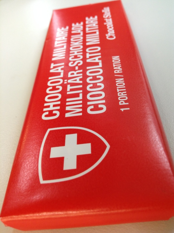 Swiss Army Chocolate. Simple but good.