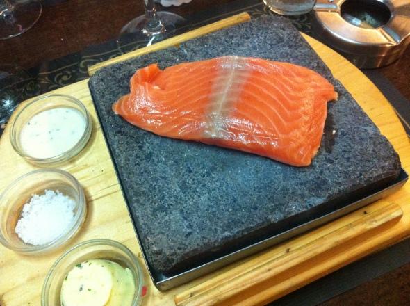 Salmon on hot Stone (Restaurant)