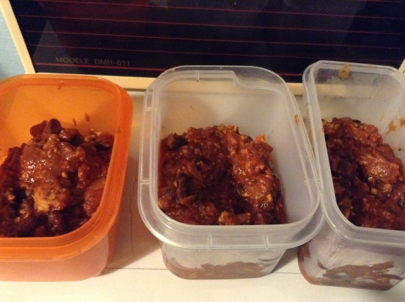 Chicken Chilli for the week