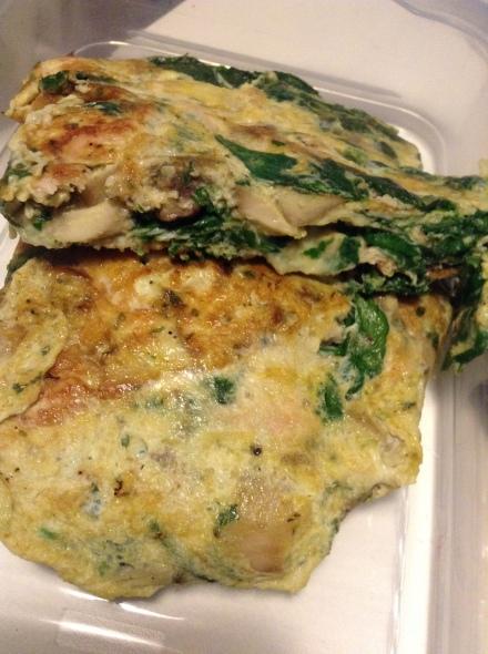 Chicken Spinach Omelette
