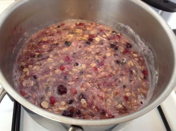 Berry Eggwhite Oats for the week