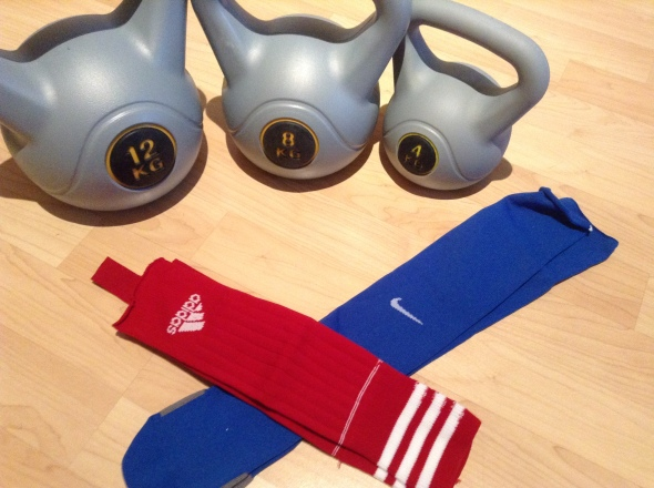 Kettlebells, socks