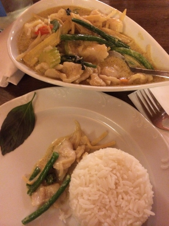 Thai Curry w. Codfish filet