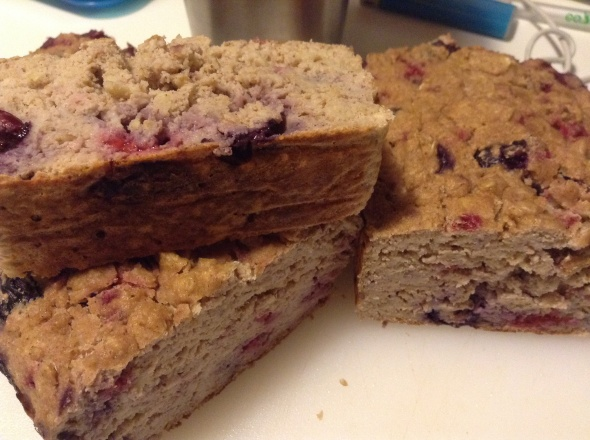 Cococnut Berry Oatmeal Cake