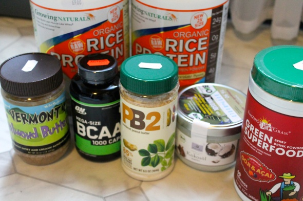 Growing Naturals Protein, AB, BCAA's, PB2, Coconut Oil, Amazing Grass Acai&Goji Superfood Powder