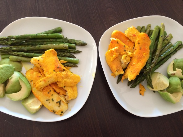 Codfish, Asparagus, Avocado