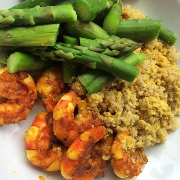 Prawns, Quinoa, Asparagus
