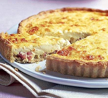Swiss Cheese Pie with bacon