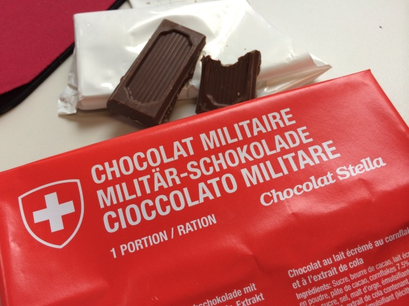 Swiss Military Chocolate brought home by my sweet office colleague Christian ( :-) )
