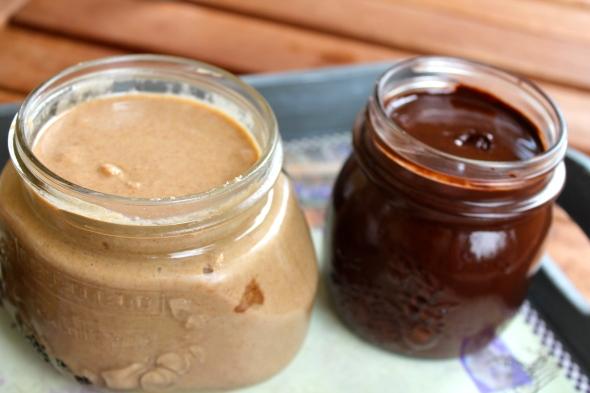 Coconut Almond Hazelnut Butter (on the left)