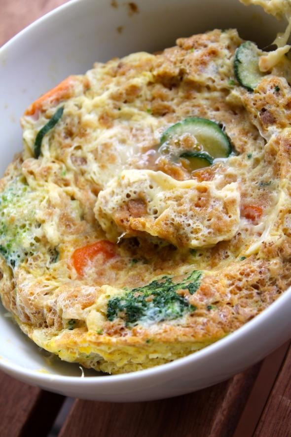 Eggwhite/Eggs/Veggie Bake