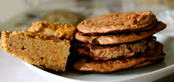 Apple Chocolate Protein Pancakes / English Muffin Bread