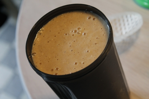 Preworkout Oatmeal Banana Protein Smoothie