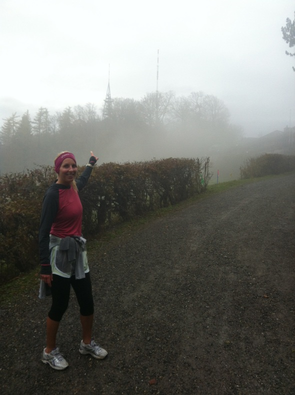 Run up the Zurich Mountain. What the HELL am I wearing on my head.