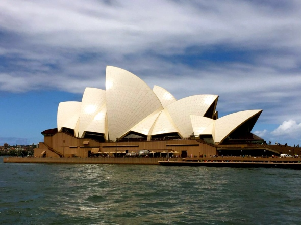 Opera House from Ferry, Sydney, January 2016